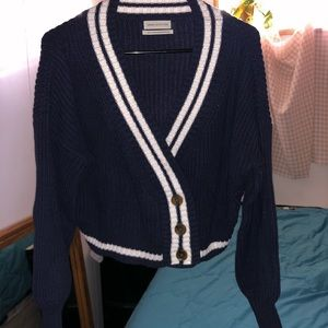 Urban outfitters knit sweater, thick, navy blue